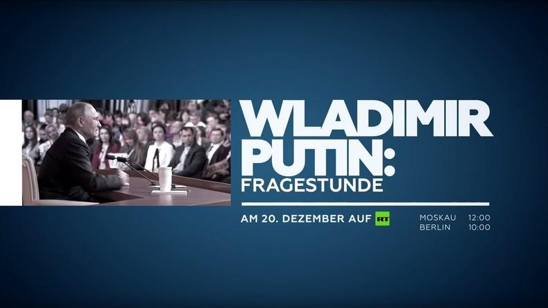 LIVE: Große Pressekonferenz von Wladimir Putin (mit deutscher Simultanübersetzung)