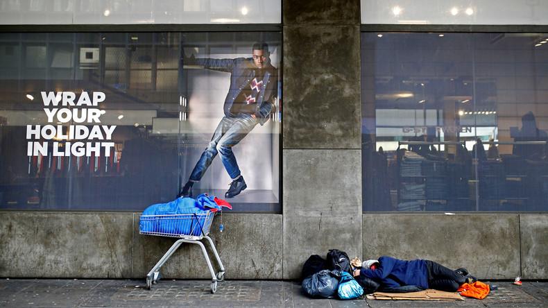 Studie: Obdachlosigkeit in Großbritannien nimmt stark zu