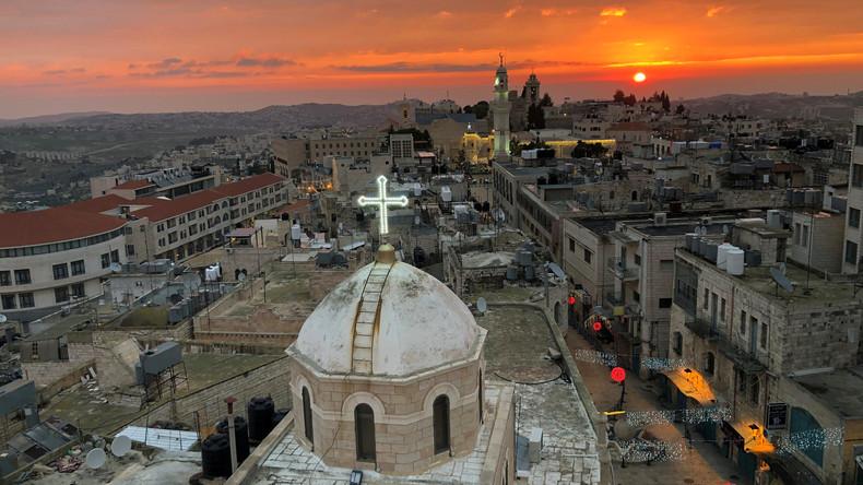 Christen feiern Weihnachten im Heiligen Land