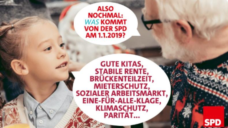 Weihnachtliches Fremdschämen vom Feinsten: Die Social-Media-Kampagne der SPD