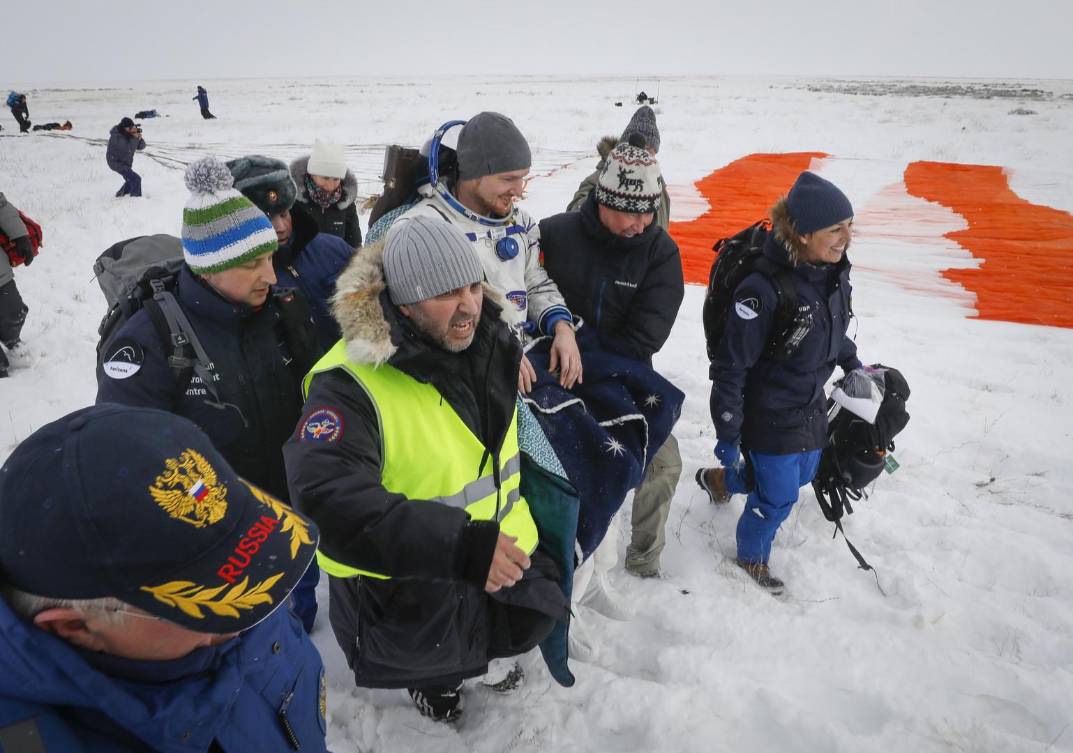 Alexander Gerst und Raumfahrerkollegen wohlbehalten gelandet