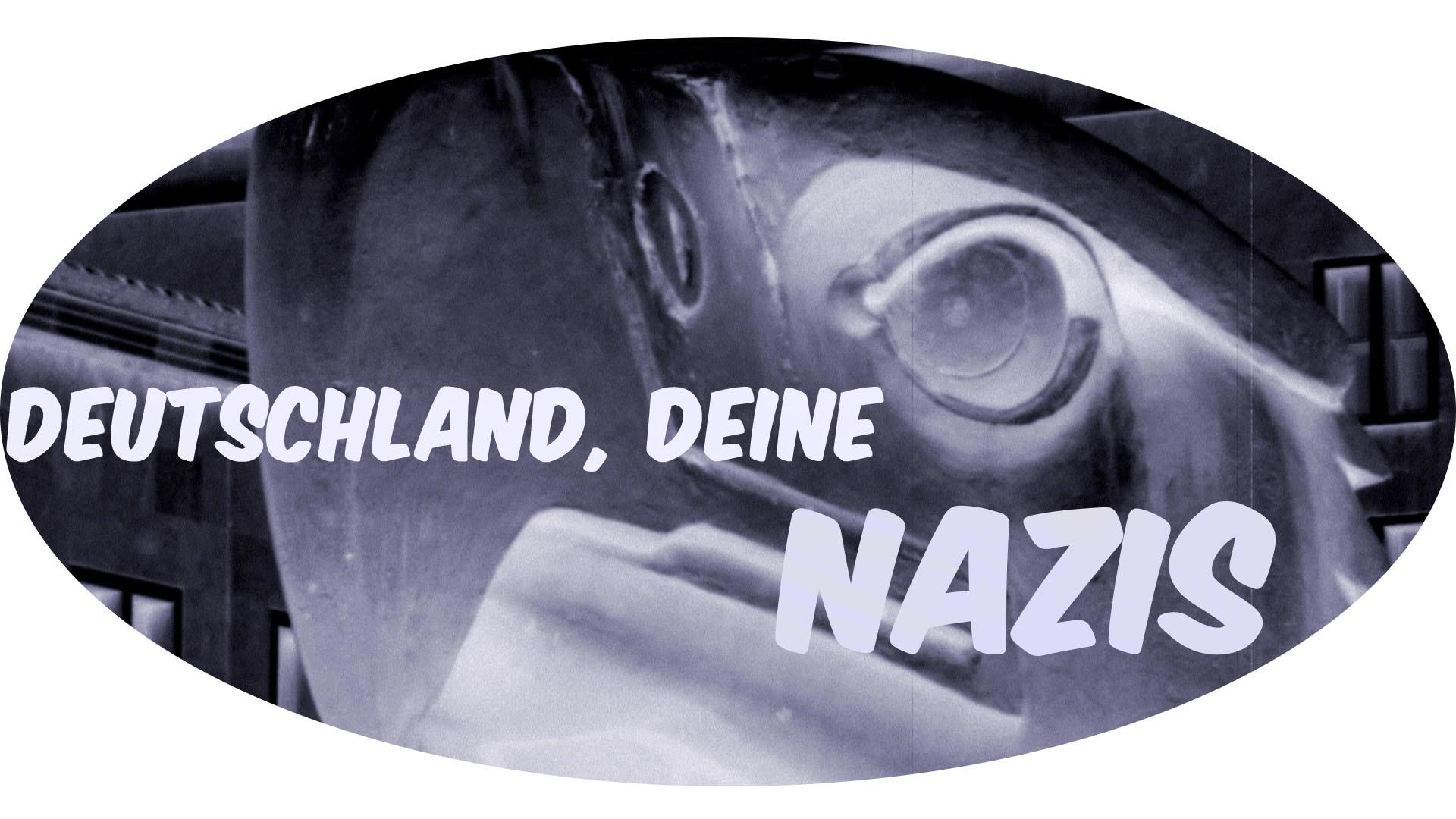 """Adlerkopf mit Text """"Deutschland: Deine Nazis"""""""