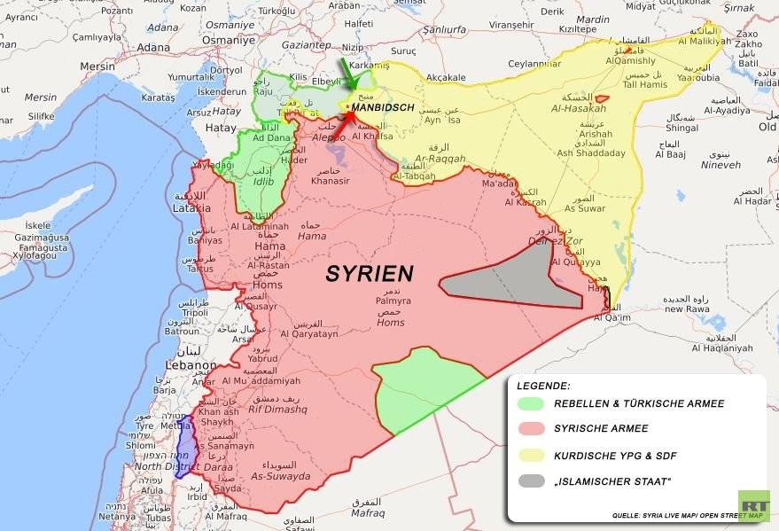Moskau begrüßt Schutz der Kurden vor türkischer Offensive durch syrische Armee in Manbidsch
