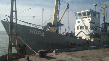 Der in der Ukraine festgesetzte Fischkutter