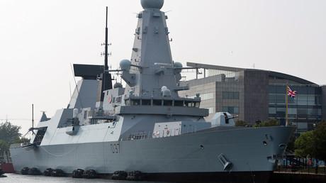 Der britische Zerstörer HMS Duncan ankert am 3. September 2014 anlässlich des NATO-Gipfels in Wales. (Symbolbild)