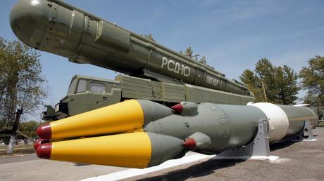 Die sowjetische Mittelstreckenrakete vom Typ RSD-10 Pioneer wurde nach der Unterzeichnung des INF-Vertrages ausgemustert.