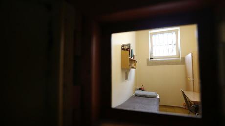 Gefängniszelle in Landsberg, Deutschland, 31. März 2014.