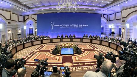 Ein Bild von der Syrien-Friedenskonferenz in Astana.