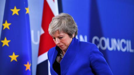 Der britischen Premierministerin Theresa May, hier nach einer Pressekonferenz am 25. November 2018 in Brüssel, droht bei der Brexit-Abstimmung am Dienstag im Londoner Parlament eine Niederlage.