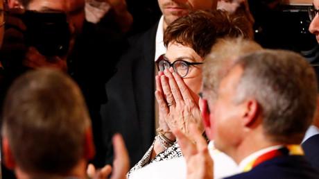 Überascht? Kramp-Karrenbauer nach ihrer Wahl am Freitag in Hamburg