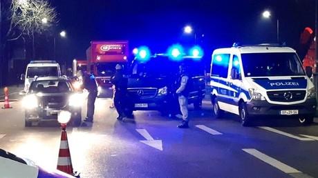 Bundespolizei bei der Grenzkontrolle