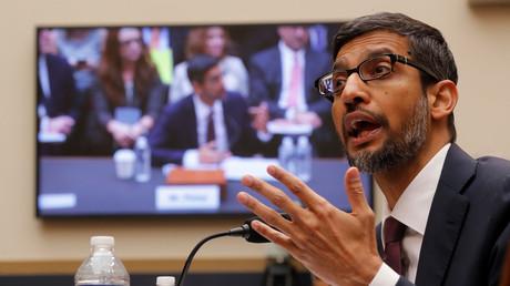 Google-Chef Sundai Pichai während seiner Aussage vor dem House Judiciary Committee.