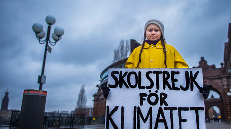 Greta Thunberg, Schwedische Schülerin beim Streik gegen den Klimawandel, Stockholm, Schweden, 30. November 2018.