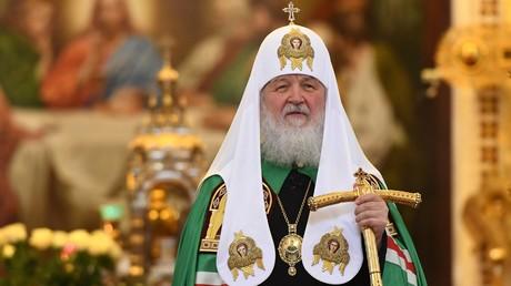 Patriarch Kirill während einer Liturgie