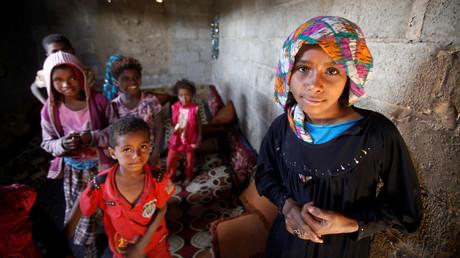 Binnenflüchtlinge in Sanaa, Jemen, 1. November 2018.