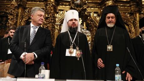 Der ukrainische Präsident Petro Poroschenko (l.), der neue