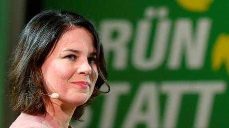 Grünen-Chefin Annalena Baerbock, Frankfurt, Deutschland, 25. Oktober 2018.