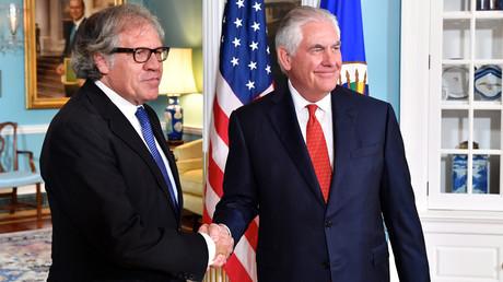 In Washington beliebt: OAS-Präsident Luis Almagro (l.) mit dem damaligen US-Außenminister Rex Tillerson (13. Oktober 2017)