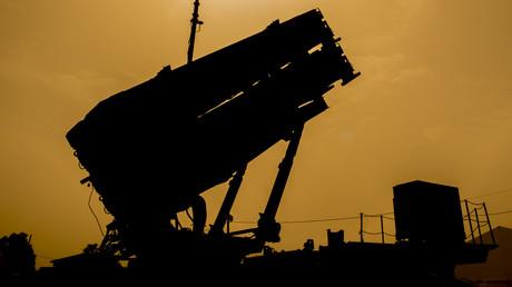 Ein US-Patriot-Raketenabwehrsystem ist während der israelisch-amerikanischen Militärübung