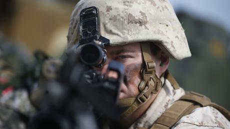Ein US-Marinesoldat beim