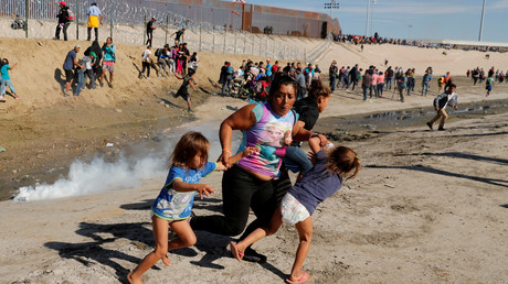 Szenen an der US-Grenze zu Mexiko, November 2018