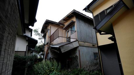 Ein leeres Haus im Bezirk Sennari in Sakura, Präfektur Chiba, Japan.