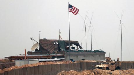 Soll bald dichtmachen: Eine Basis des US-Militärs bei Manbidsch in Nordsyrien.