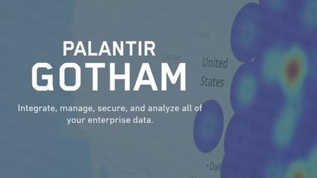Präsentation der Analyseplattform Gotham Palantir, alias