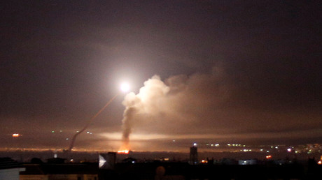 Raketenfeuer auf Damaskus, Syrien, 10. Mai 2018.