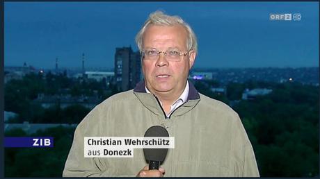 Christian Wehrschütz arbeitet seit 1991 für den Österreichischen Rundfunk. 2014 wurde er zum ersten Korrespondenten des ORF für die Ukraine mit Sitz in Kiew ernannt.