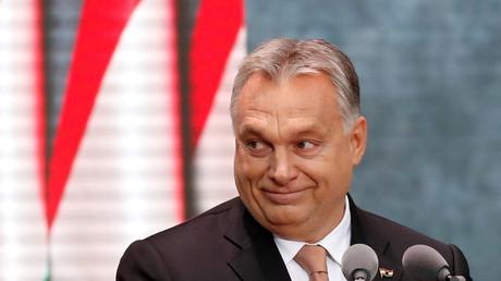 Der ungarische Premierminister Viktor Orban hält eine Rede anlässlich der Feierlichkeiten zum Jahrestag des ungarischen Aufstands von 1956 in Budapest, 12. Dezember 2018.