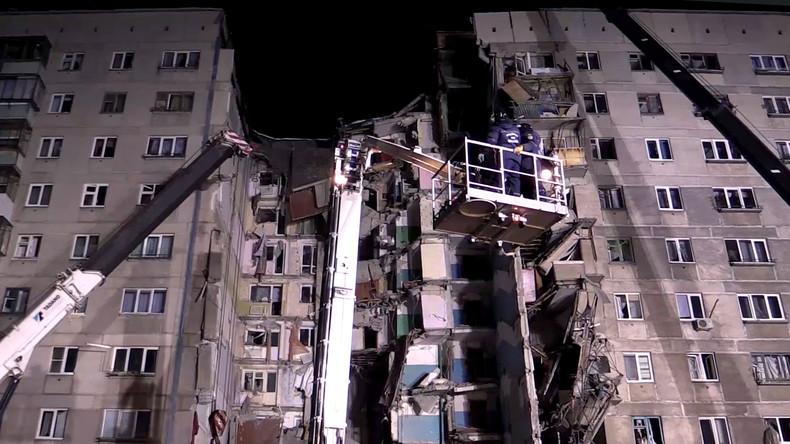 Magnitogorsk: Rettungskräfte bergen weitere Leichen nach Gasexplosion in Wohnhaus