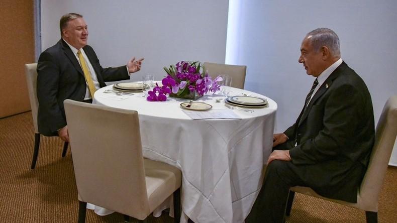 Pompeo zu Netanjahu: USA verpflichten sich zum Schutz Israels trotz Syrien-Abzugs
