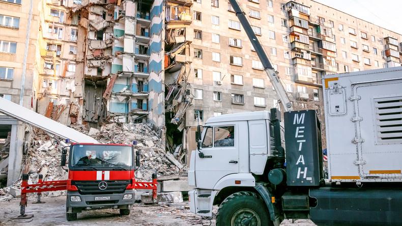 Gasexplosion im russischen Magnitogorsk: Inzwischen 38 Tote geborgen