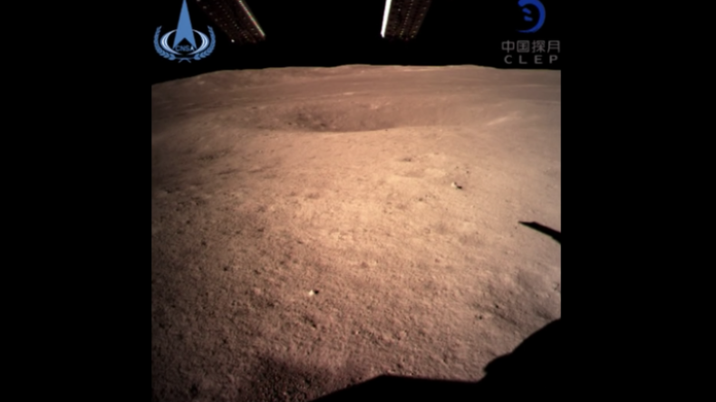 """Chinas """"Chang'e 4"""" veröffentlicht erstes Bild nach Landung auf erdabgewandter Seite des Mondes"""