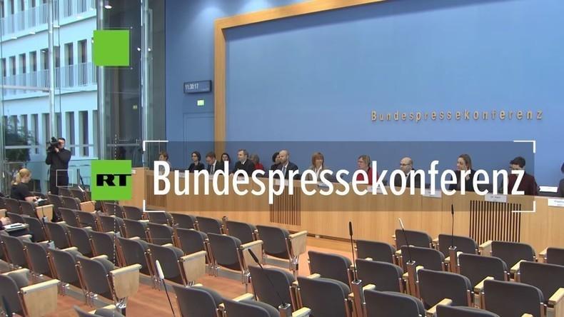 Bundespressekonferenz zum möglichen Hackerangriff (Video)