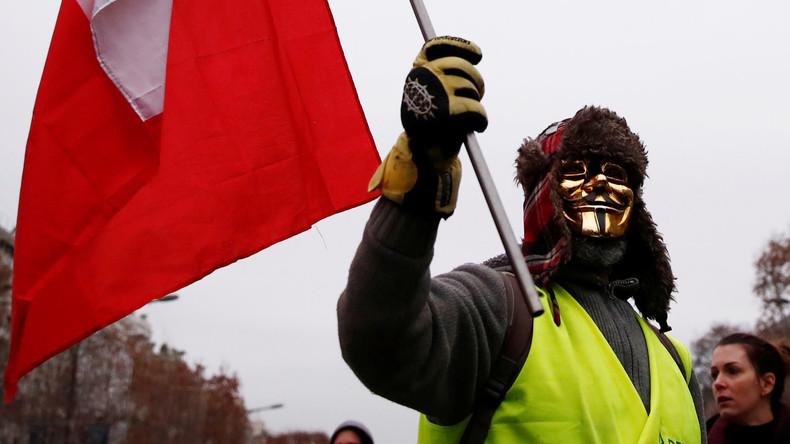 LIVE: Gelbwesten protestieren achte Woche in Folge in Paris