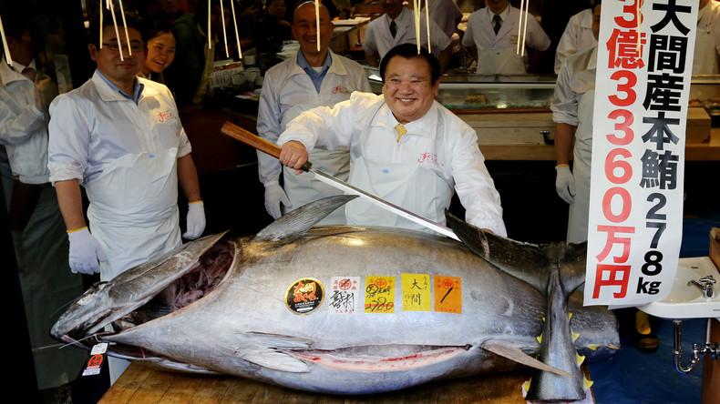 Tokio: Rekordpreis von 2,7 Millionen Euro für Thunfisch