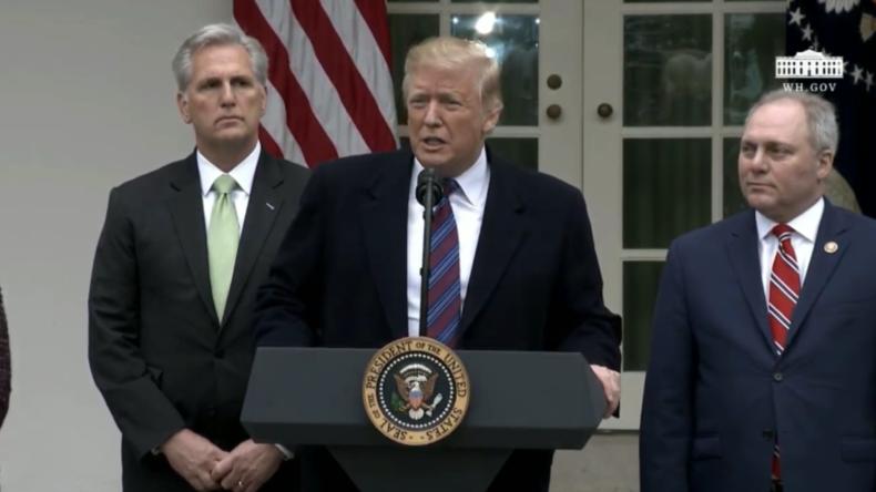 """Trump bestätigt, dass der """"Shutdown"""" Jahre dauern könnte, bis das Grenzproblem gelöst ist"""