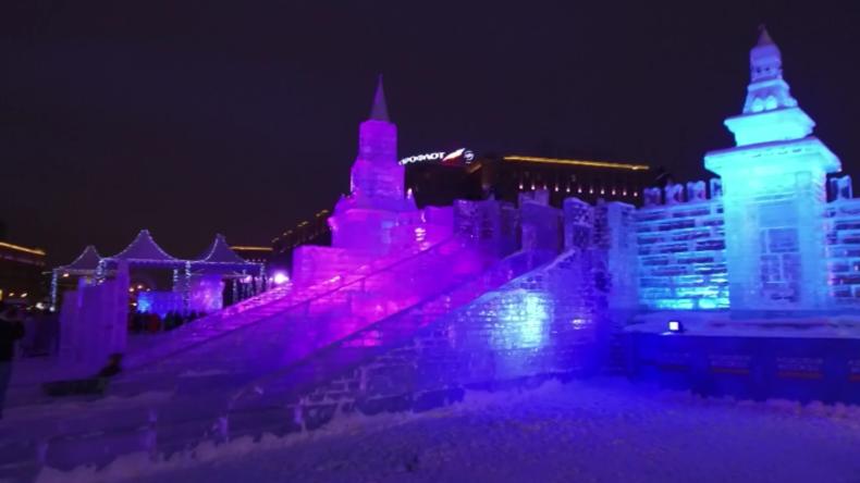 Moskaus größtes Eisfestival begeistert Besucher