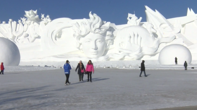 China: Russland gewinnt achte Eisskulptur-Meisterschaft in Harbin
