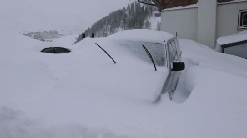 Schneechaos in Österreich: Obertauern unter mächtiger weißer Decke - und es soll weiter schneien