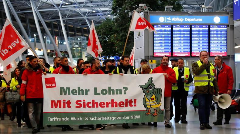 Warnstreik an drei Flughäfen - Zehntausende Reisende betroffen