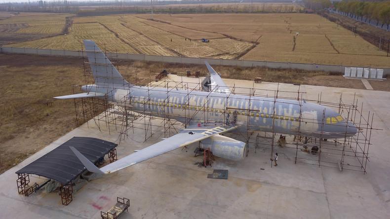 Modellbau im großen Stil: Chinese baut Airbus A320 in Originalgröße nach (Video)