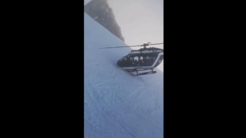 Pilot zeigt Nerven aus Stahl: Hubschrauber-Rettung mit Zentimeter-Abstand zum Berghang