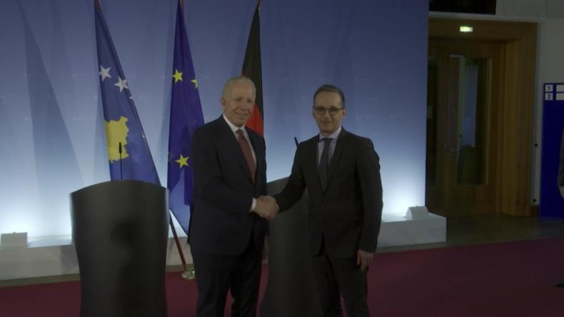Maas spricht in Berlin über EU-Integration des Kosovo
