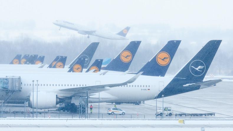 Zahlreiche Flüge in München und Frankfurt wetterbedingt gestrichen