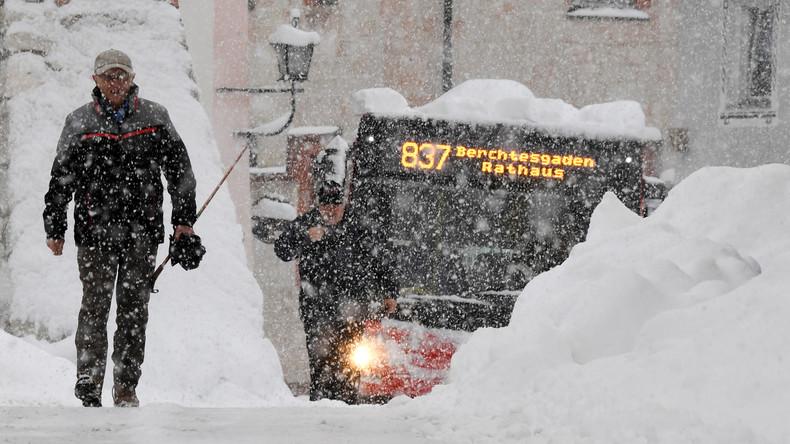 Kein Durchschnaufen: Wetterdienst warnt in Bayern vor extremen Schneehöhen