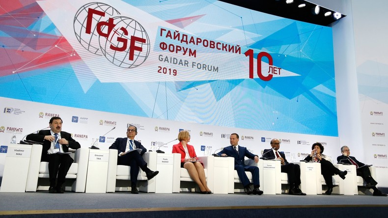 Moskau: Beginn des 10. Internationalen Gaidar-Wirtschaftsforums