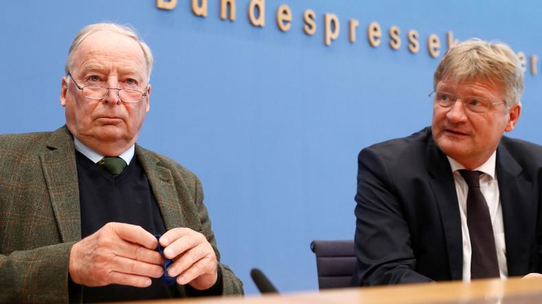AfD-Pressekonferenz zur Erklärung des Verfassungsschutzes
